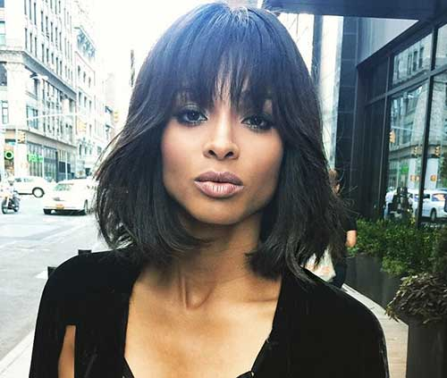 Short Haircut with Fringe