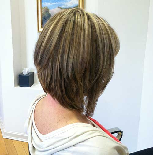 Straight Graduated Bob Hair Pictures