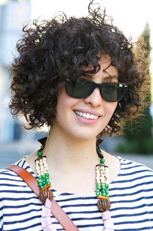 Short Thick Curly Bobs