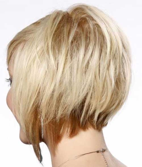 Blonde Layered Bob Hair Back View