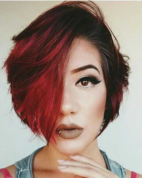 Short Asymmetrical Haircuts 2018 - 8