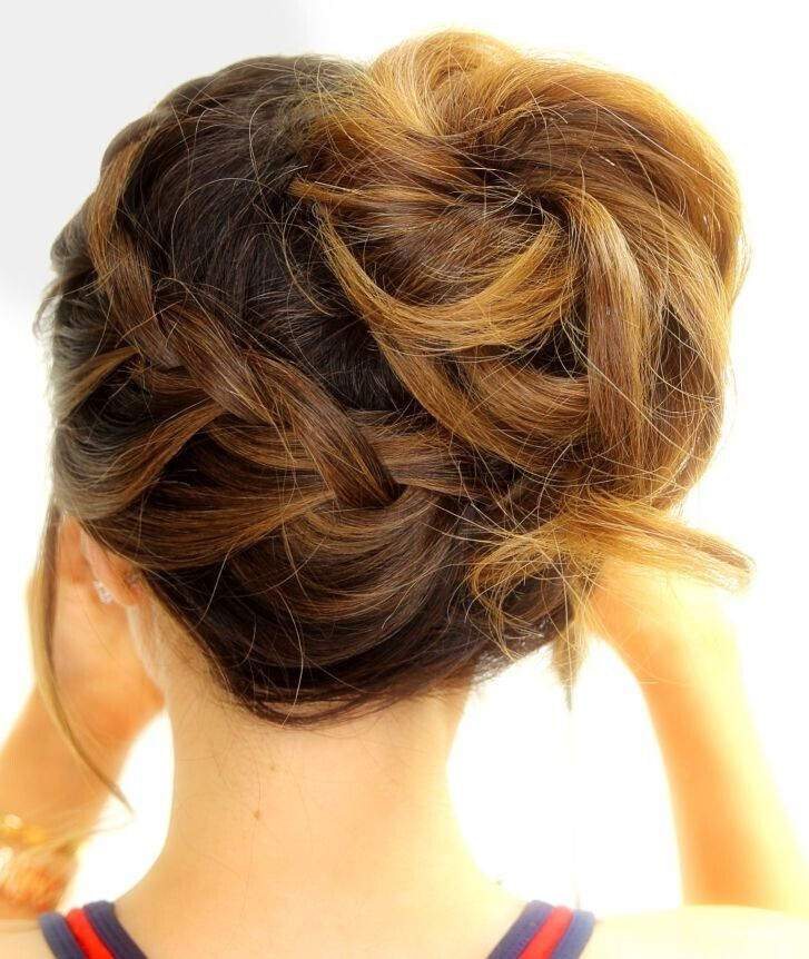 Braided updo hairstyles for school, workouts, sports, and everyday for medium hair