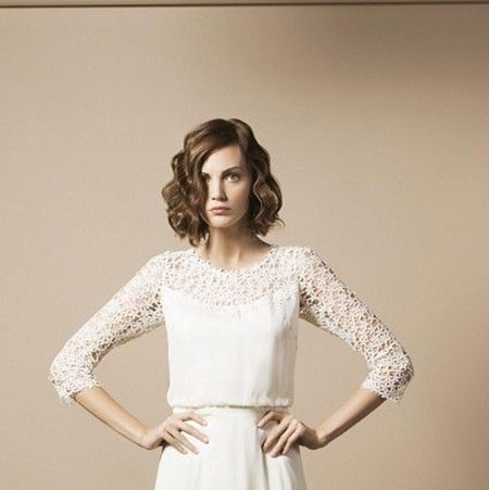 19 Wedding Hairstyle Short Hair_13