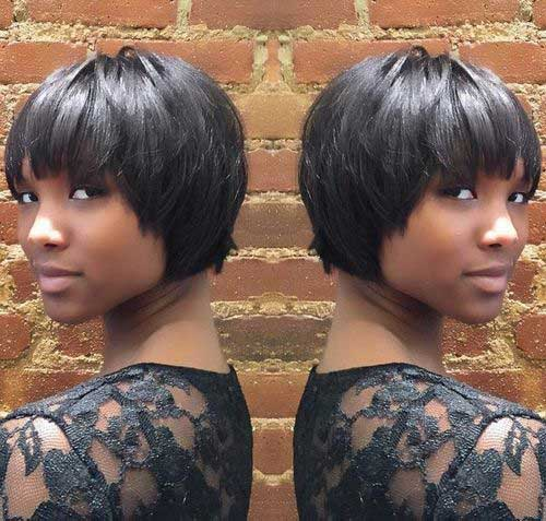 Very Short Bob Haircuts with Bangs