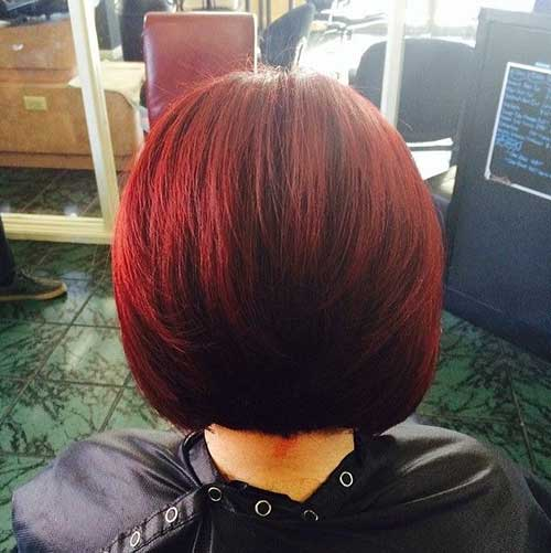 Straight Red Bob Hairstyles