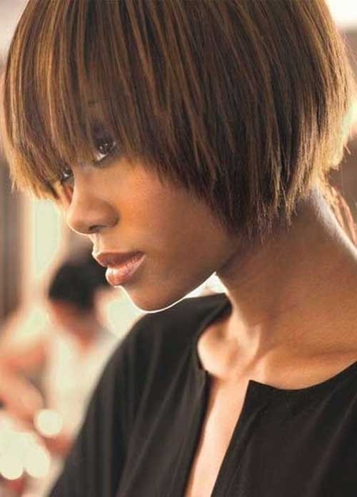 Brown Hair with Caramel Highlights for Black Women