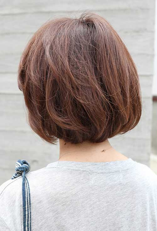 Back View of Short Bob Cut Style