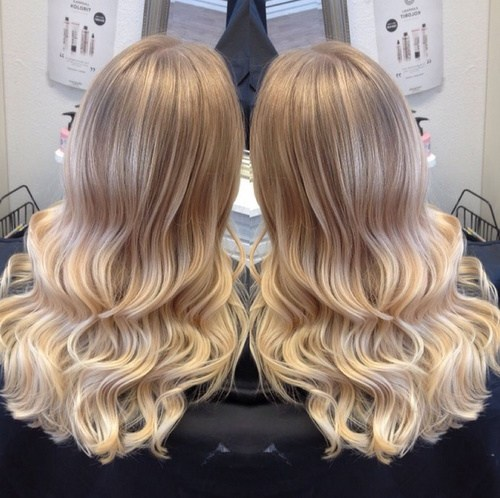 Blonde Ombre-Locken