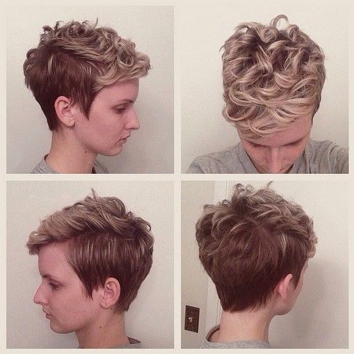 Pixie Haircut with Curly Hair - 2018 Short Hairstyles for Spring and Summer