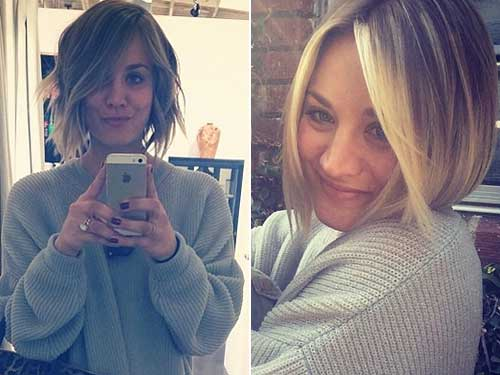 Kaley Cuoco Bob Haircuts 2018 Trends