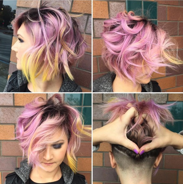 Messy, Layered Bob Hair Cuts - Shaved Hairstyles 2018