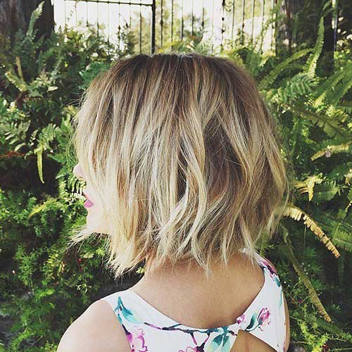 Choppy Short Blonde Bob Hairstyles