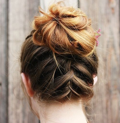 trendiest updos for medium length hair