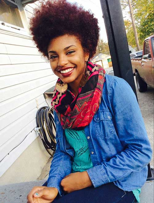 Short Curly Afro Hairstyles-18
