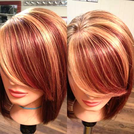 Red Hair Idea with Highlights