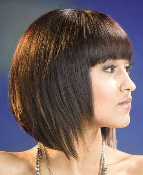 Concave Bob with Bangs Hairstyle