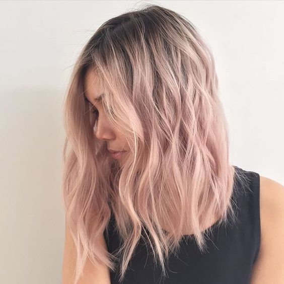 lob-hair-cuts-2018-pastel-pink-tones-ombre-hairstyles