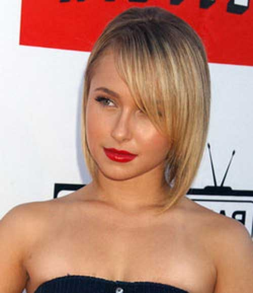 Hayden Panettiere Bob Hair Layered Side Bangs