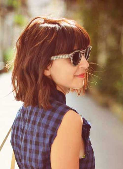 Bob Hairstyle with Bangs-12