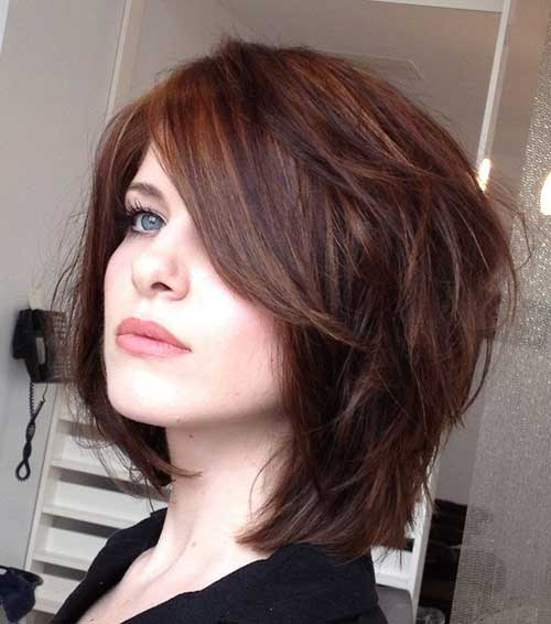 Layered Short Brown Bob