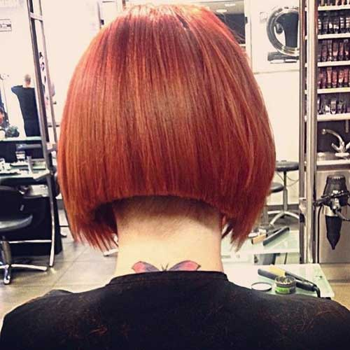 Undercut Shaved Red Bob Hairstyles