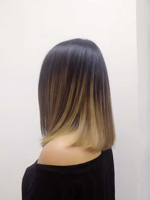 Bob Hairstyles with Ombre Color