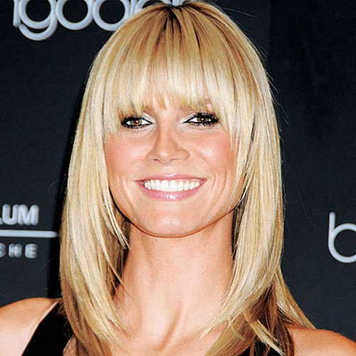 Heidi Klum Bob with Bangs Pictures