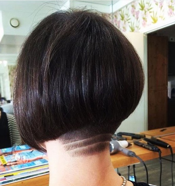Undercut with Short Straight Bob Hair Styles - Thick Hairstyles for Summer