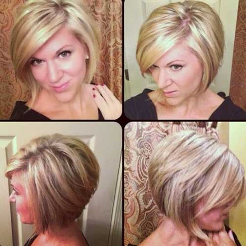 Inverted Stacked Bob Haircuts