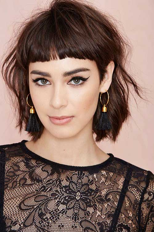 Simple Cute Hairstyles for Short Hair with Bangs