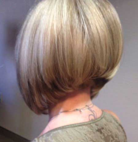 Layered Thick Blonde Cute Bob