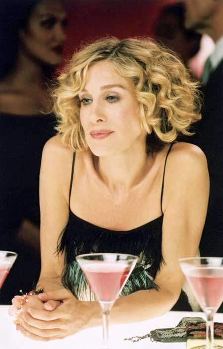 Carrie Bradshaw Short Curly Hairstyle