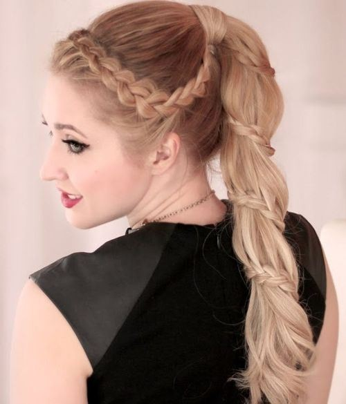 Chic Braided Ponytail Hairstyles - Prom Hairstyle Ideas