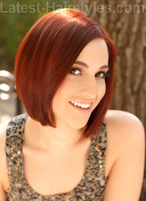 Short Bob with Red Color Hairstyles