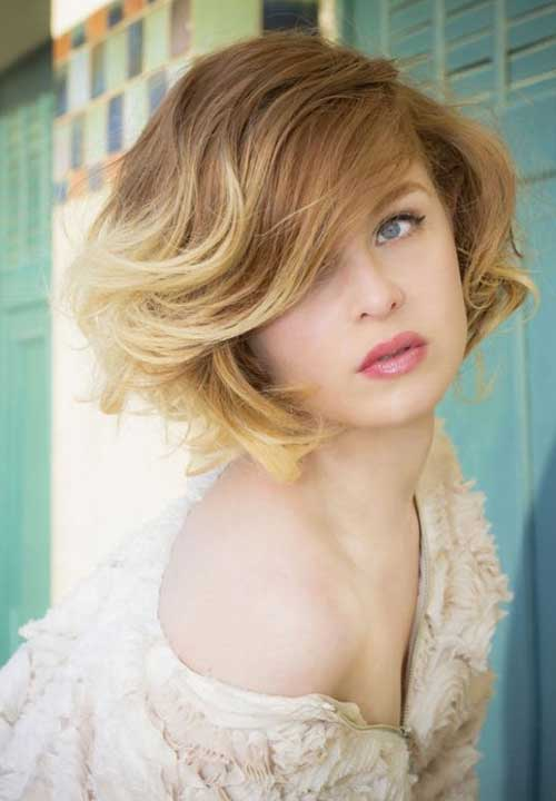 Short Wavy Blonde Bob Hairstyles for 2018