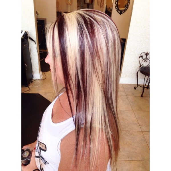 Blonde Hair with Red Highlights: Hair Color Ideas