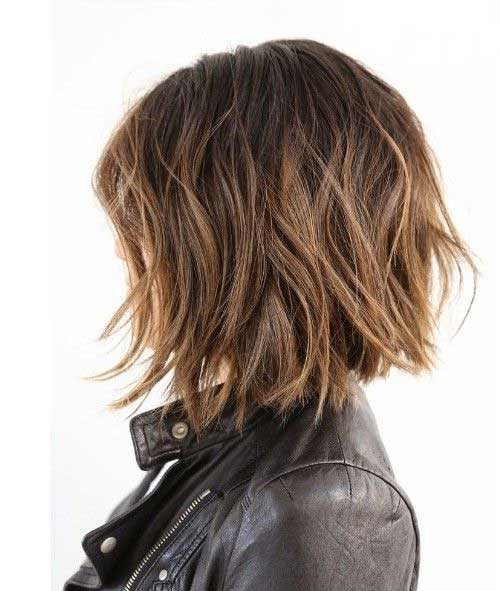 Stylish Choppy Brown Bob Hairstyles