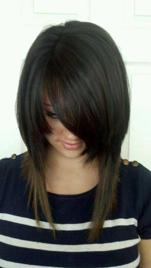 Long Inverted Dark Bob Idea