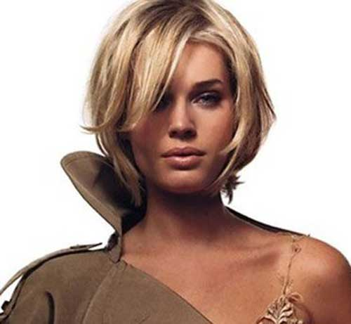 Cool Blonde Side Swept Bob Haircuts 2018