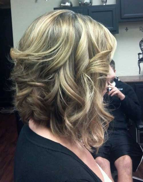 Long Inverted Blonde Bob Haircut