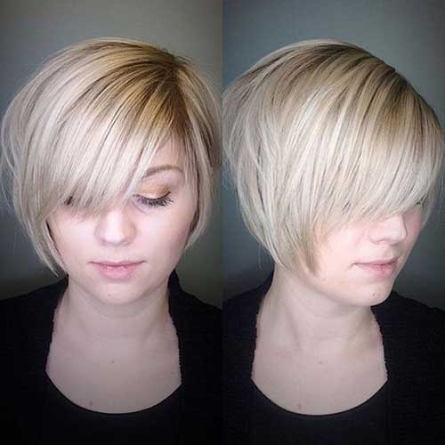 Short Haircuts for Round Faces