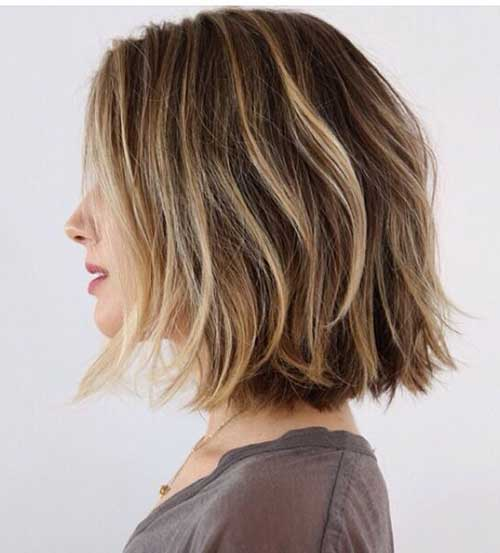 Balyaged Short Choppy Bob Hairstyles