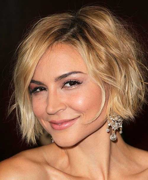 Side Swept Choppy Bob Hairstyles 2018