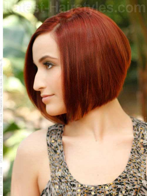 Graduated Bob Fine Red Hairstyles