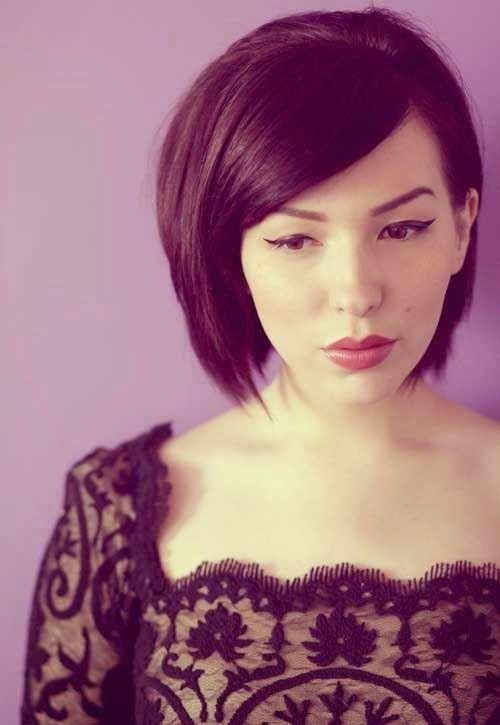Side Swept Bob Cut Hair Pictures