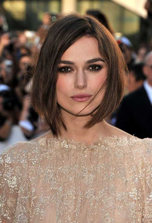 Keira Knightley Straight Casual Bob Hairstyles