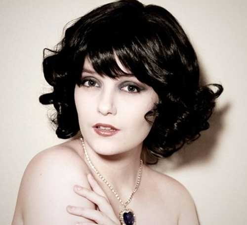 Curly Nice Bob Hairstyles with Bangs