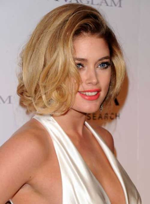 Chic Long Cut Bob Hairstyles for Round Face