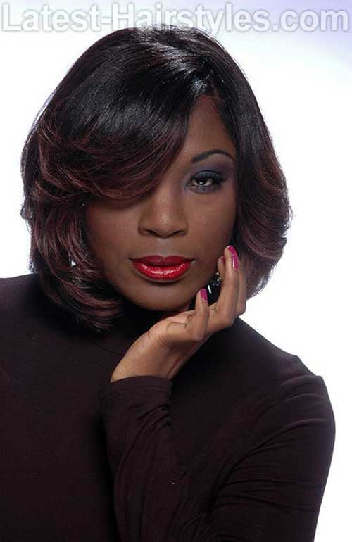 Feathered Bob Hairstyles Ideas for Black Women
