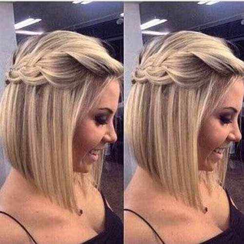 Cute Half Up Hairstyle for Short Hair